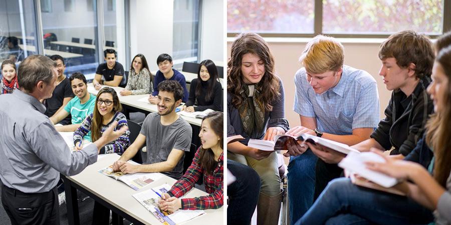 Fotos de estudiantes en clase