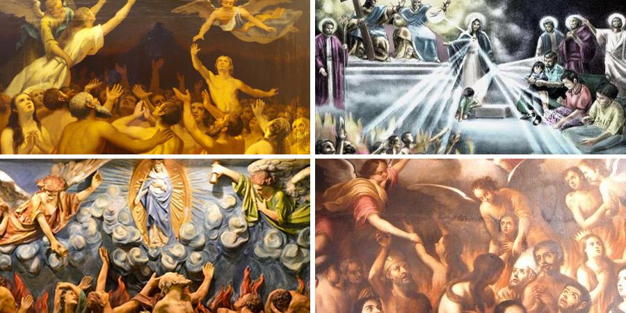 Imágenes de las benditas almas del purgatorio