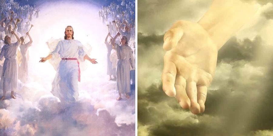 Imagen de Jesús en el cielo