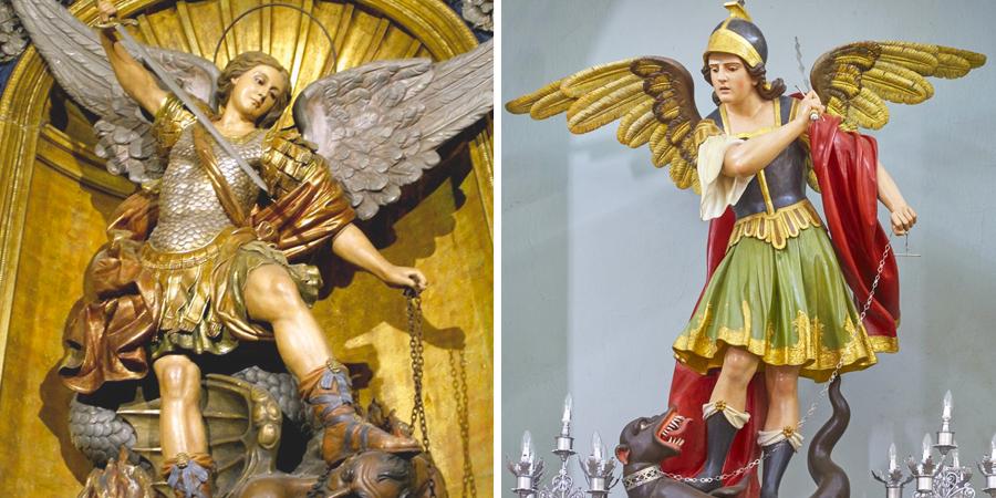 Estatuas del árcangel San Miguel