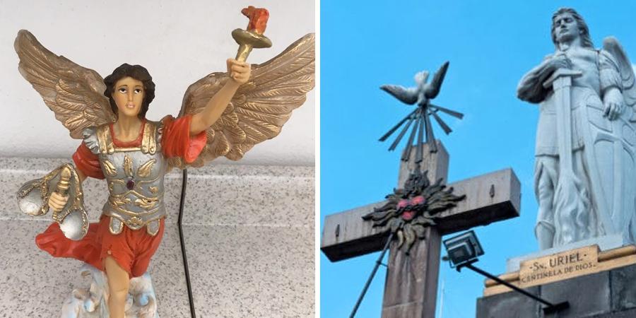 Estatuas del arcángel Uriel