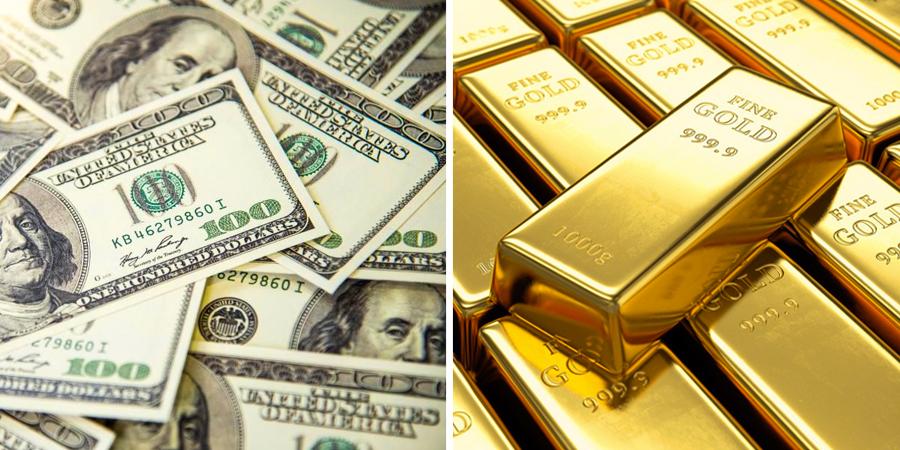 Dólares y oro