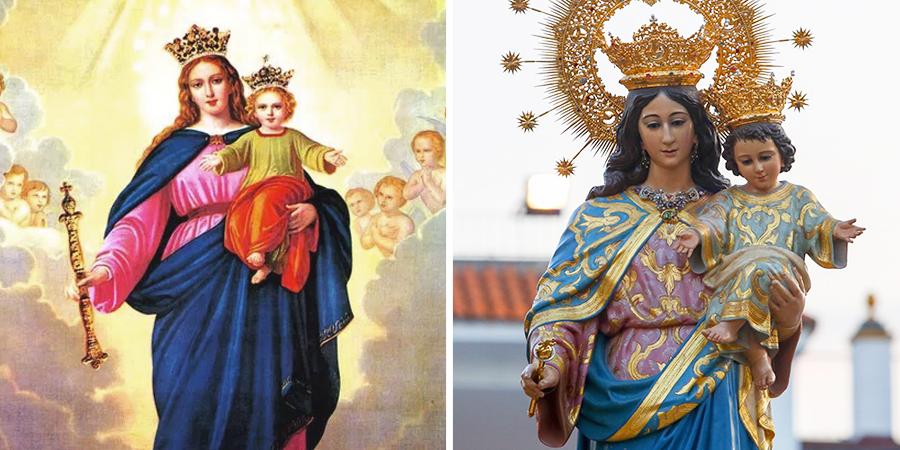 Estatua de María Auxiliadora