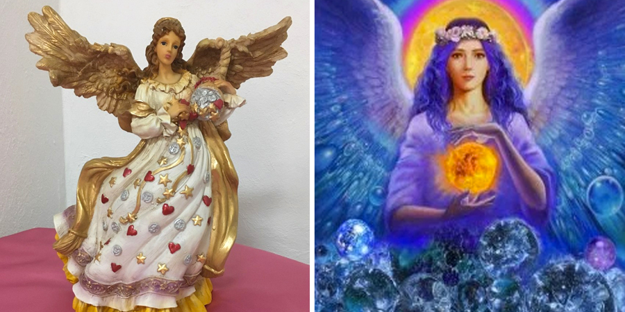 Estatua del ángel de la abundancia