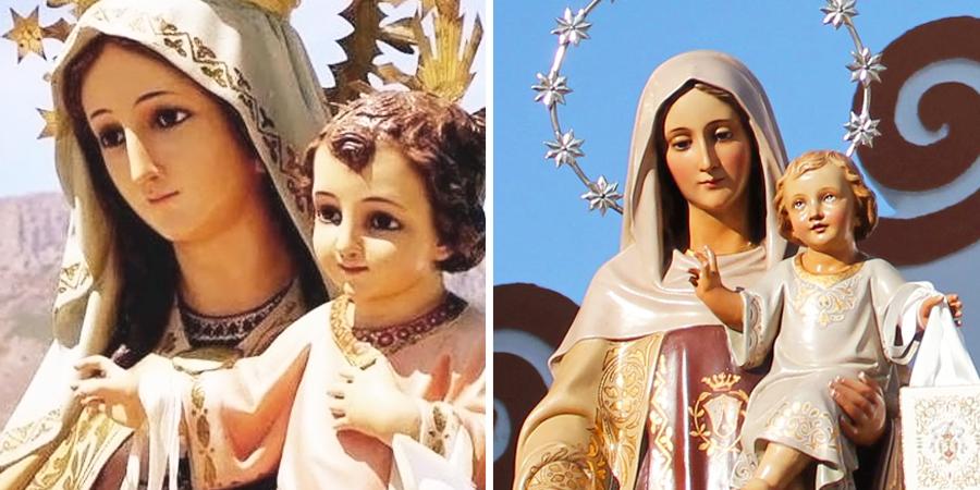 Estatuas de la virgen del carmen