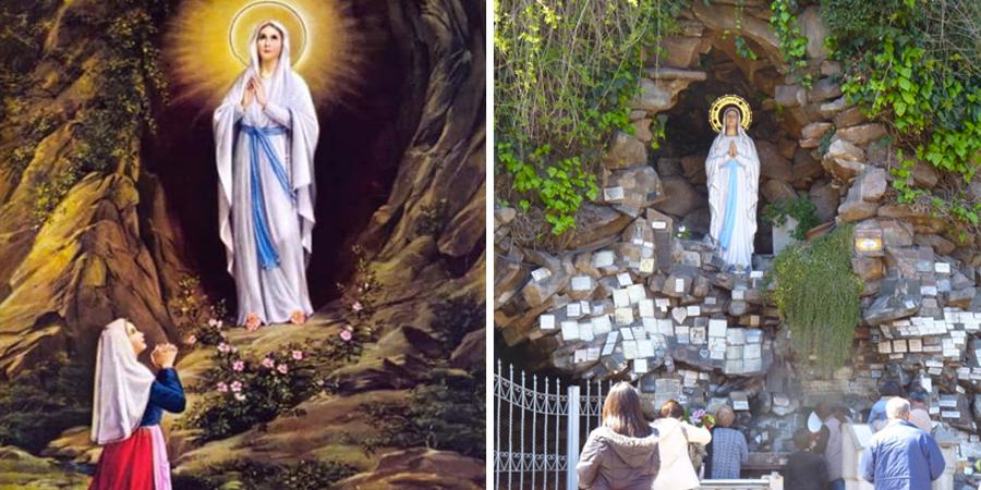 Imágenes de la virgen de Lourdes