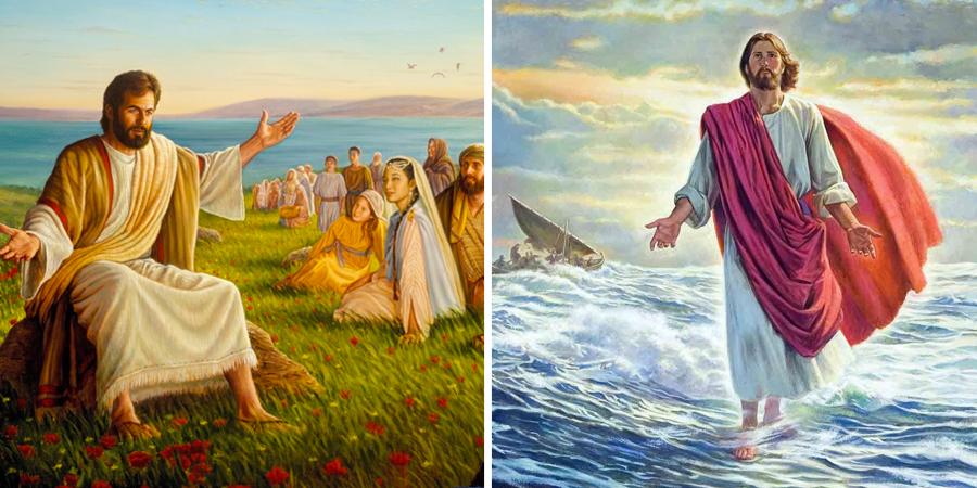 Jesús predicando sobre el agua