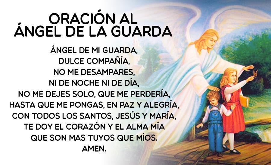 Oración al ángel de la guarda original
