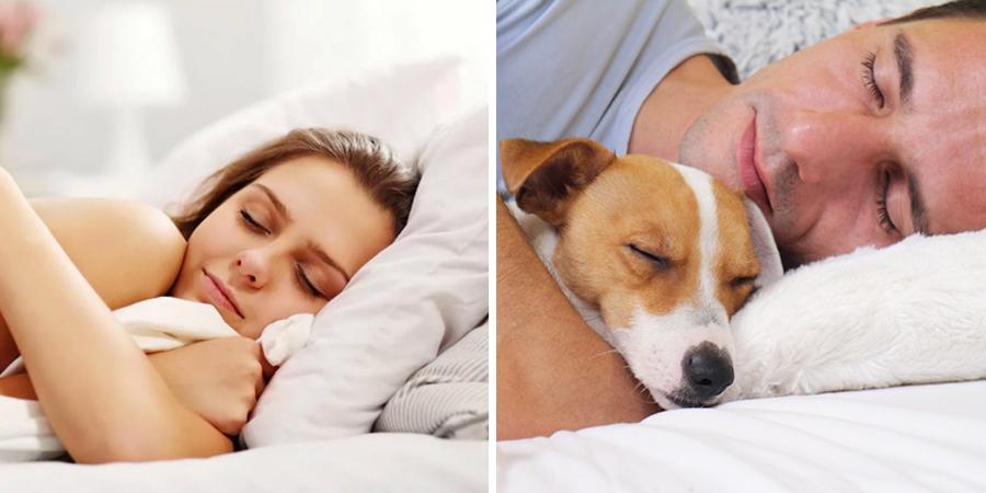 Personas durmiendo con su mascota