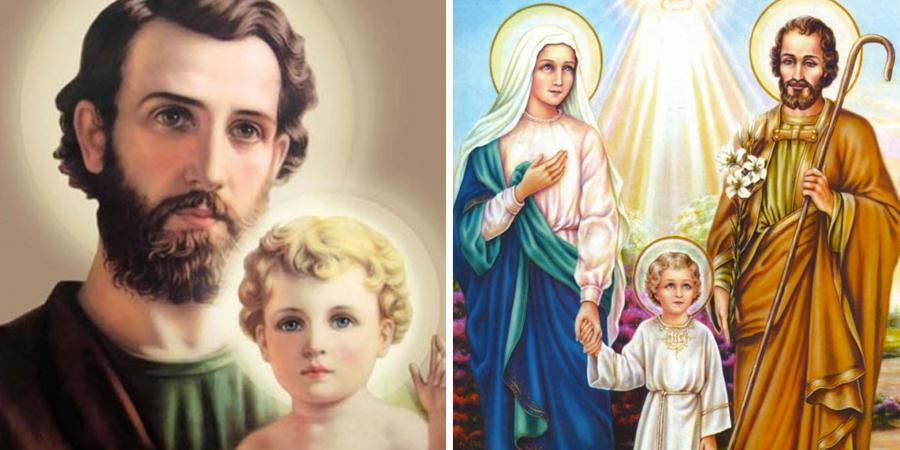 San José y la Virgen