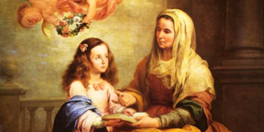 imágenes de santa ana y la virgen